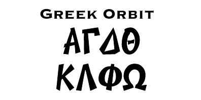 StitchZone Embroidery/Segami Designs - Greek Fonts for Fraternities
